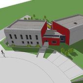 Construction du centre de secours incendie « LES VERRIERS » à Goetzenbruck - Groupe Ecade