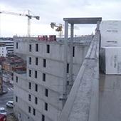 Ensemble immobilier Foyer de jeunes travailleurs, logements en accession, activités de restauration et crèche à Strasbourg - Groupe Ecade