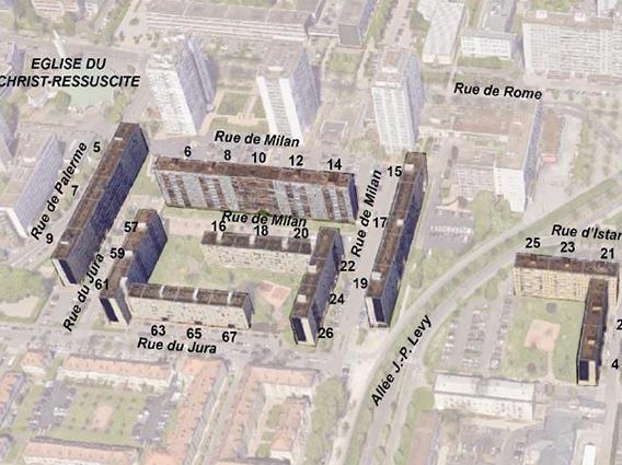 Réhabilitation et résidentialisation de 743 logements à Strasbourg-Esplanade - Groupe Ecade